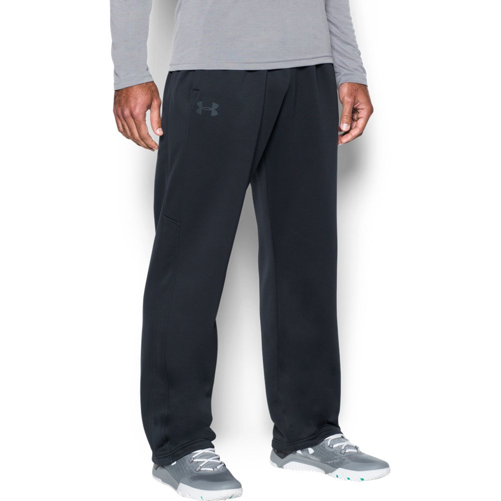 Under Armour Men's Storm Armour Fleece Pants, Black/Black, Small by Under Armour (Image #1)