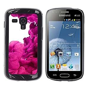 Jordan Colourful Shop - Purple Vibrant Colorful Fluid For Samsung Galaxy S Duos S7562 Custom black plastic Case Cover