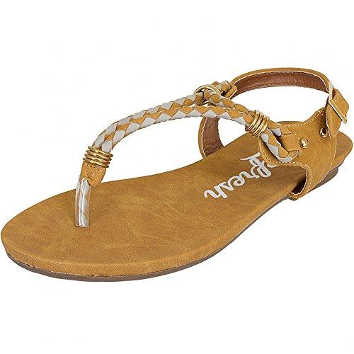Refresh Shoes - Sandalias de vestir de Piel para mujer Negro negro Negro - beige camel