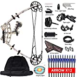 "XGeek Triangle Compound Bow for Adults - Right & Left Hand Hunting Bow for Beginner | Draw Length 27"" Draw 50LBS Pull 