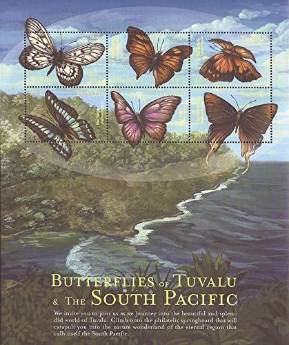Tuvalu - 2000 Butterflies - 6 Stamp Sheet - Scott ()