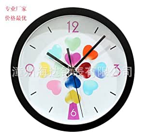Lilia Simple And Modern Digital Wall Clock Mute Round The Living Room Wall Clock