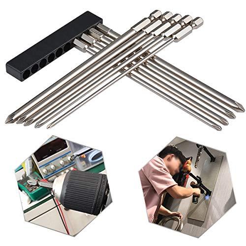 150 Mm Shank - HOEN 9Pcs 1/4 Inch Hex Shank Magnetic Phillips Cross Screwdriver Bits 150mm