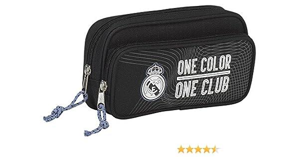 Real Madrid- Estuche portatodo con Bolsillo (SAFTA 811757602), Color Negro (