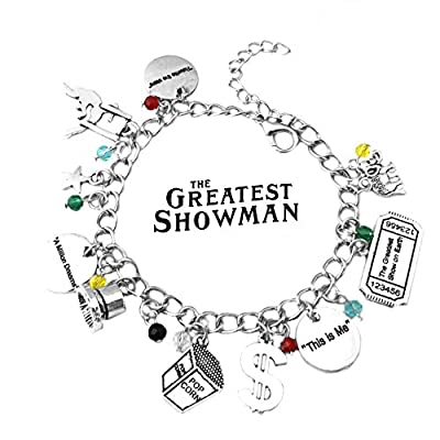Superheroes Brand The Greatest Showman Hugh Jackman Charm Bracelet Broadway Musical w/Gift Box Premium Quality Cosplay Jewelry Series by: Clothing