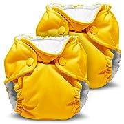 Kanga Care Lil Joey All In One Cloth Diaper (2 Pack) - Dandelion, Newborn