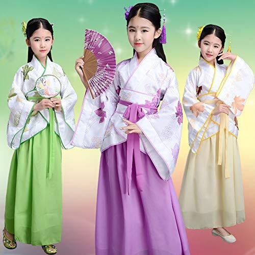 WHFDHF Dress Kinderen Kostuum Kleine Zeven Fee Prinses Jurk Guzheng Prestaties Kostuum Tang Hanfu Tang Chao Meisjes Kleding Dl3186 -