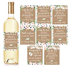 Why should you order Pregnancy Announcement wine bottle labels?   · Waterproof & Durable   · Impress your parents and siblings   · Amazing Pregnancy Gift Idea   · Designed and Made in the USA   · Easy to Use   · 100% Money Back Guarante...