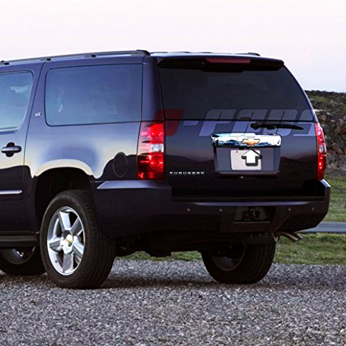A-PADS Chrome Tailgate Liftgate Handle Cover For Chevrolet SUBURBAN & TAHOE 2007-2014 - Top/Upper WITH Logo Cut