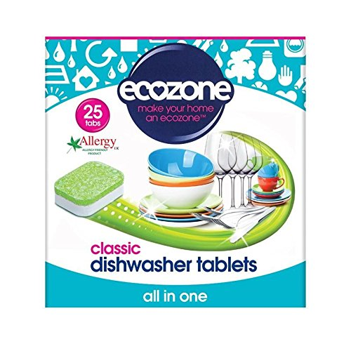 1パック古典すべて1食器洗い機のタブ25 (Ecozone) (x 6) - Ecozone Classic All in One Dishwasher Tabs 25 per pack (Pack of 6) [並行輸入品] B01LZXQDXH