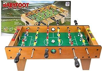 BSD Fútbol de Mesa Infantil futbolín Madera: Amazon.es: Juguetes y juegos