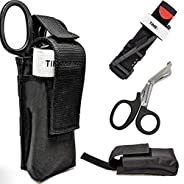 EYLEER First Aid Kits Combat Military Tourniquet + Trauma Shear+ Molle Pouch for Military Hiking Emergency Sur