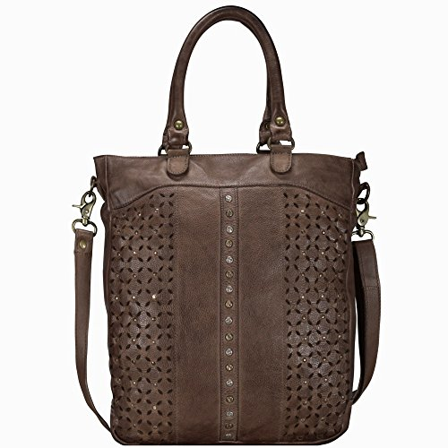 Billy Cm The Pelle 31 Sky Coffee Borsa Tote Kid Punched 6UWPy6c