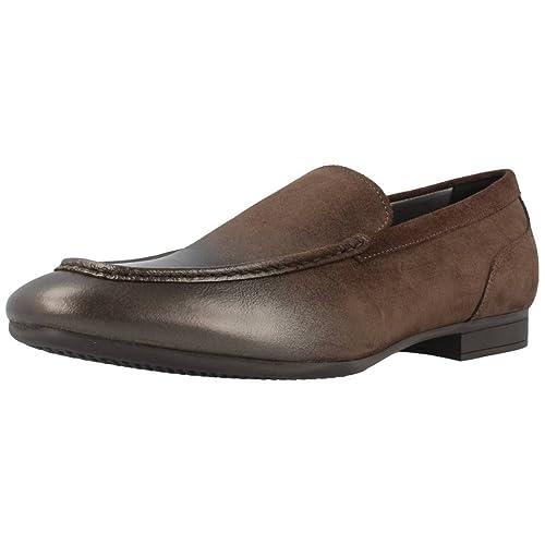 Mocasines para hombre, color marrón , marca GEOX, modelo U ...