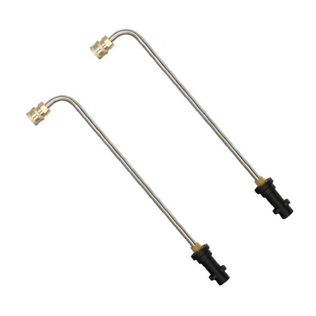 Pressure Washer Wand Extension 90 Degree Angled Curve Undercarriage And Gutter Cleaner Attachment 1//4 Inch Quick Connect 1PC