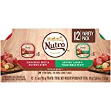 Nutro Wet Dog Food Cuts In Gravy Variety Pack, Simmered Beef & Potato Stew And Savory Lamb & Vegetable Stew, (24) 3.5 Oz. Trays
