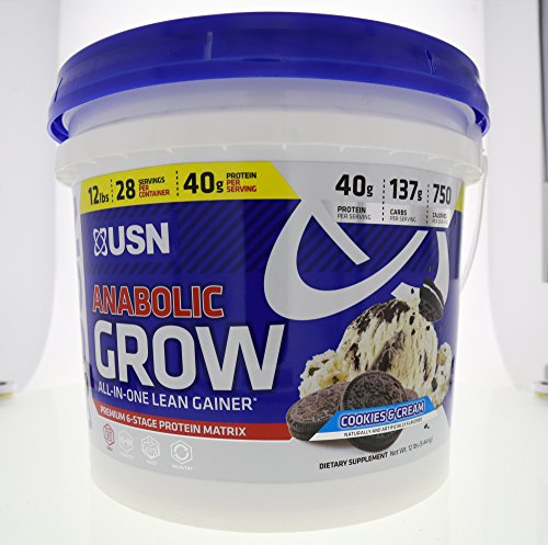 USN Supplements Anabolic Grow All-in-One Lean Gainer, Coo...