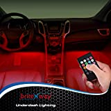 Car Interior Lights - 7 Colors and Multiple Patterns for Front & Back Underdash Decoration Lighting - 12v - Super Cool Music Rhythm & Sound Activation Function - Make Your Next Drive Fun & Exciting