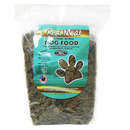 Real Meat Company Air Dried Turkey Dog Food, 10-lb Bag