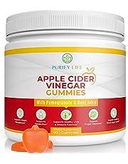 Apple Cider Vinegar Gummies Unfiltered ACV (3 Month Supply) Gut Health & Digestion Alternative to Capsules & Pills - Belly Burner (90 Chews) Immune Support, Detox, Metabolism, Mens Womens Acid Reflux