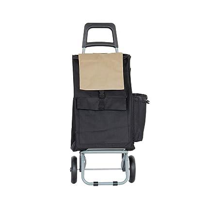 AAFEO-Trolley Carrito de Compras Carretilla Bolsa de la Compra Portable Plegable Tirar de la