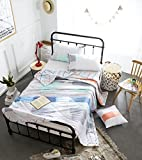 "J-pinno Checks Strips Printed Quilt Comforter Twin Blanket for Kids Boy Bedding (Twin 59"" X 78"", 1)"