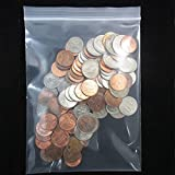 100 5x7 Reclosable Poly Clear Plastic Zip Lock Zipper Bag 4 Mil Jewelry Baggies