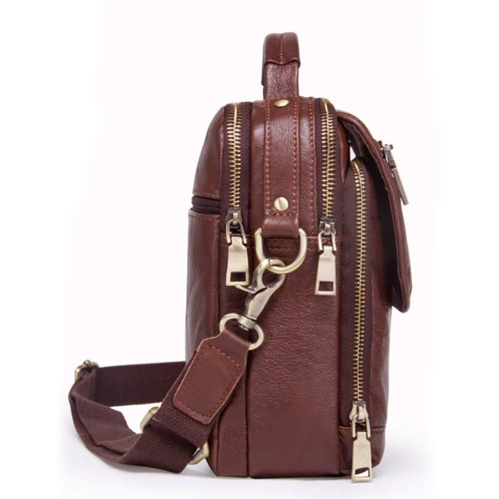 Mens Messenger Bag Fashion Casual Multifunctional Leather Shoulder Bag Leather Mens Bag