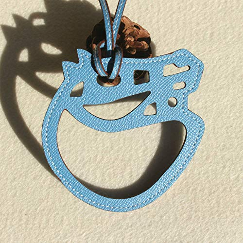 Best Quality - Key Chains - Famous Brand Designer Horse Hoof Horseshoe Genuine Leather Keychain Pendant Key Chain Girls Women Bag Charm Accessories - by PPL88-1 PCs