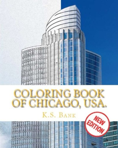 Price comparison product image Coloring Book of Chicago, USA. New Edition.