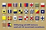 Hampton Nautical Number 7 Nautical Cloth Pennant Flag