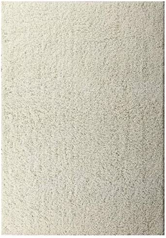 Msrugs Moon Shaggy Collection Solid Cozy Modern Contemporary Shag Area Rug – Cream 8 x10
