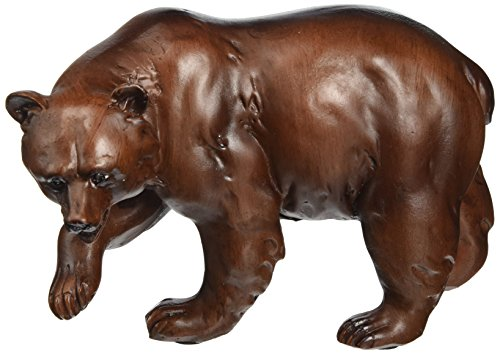 StealStreet Faux Wood Bear with Extended Paw Figure