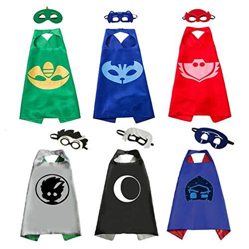 skoter Costume Party Supplies Gekko Owlette Catboy Cape for Girls -