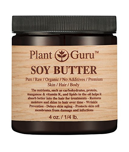 Soy Body Butter 4 oz. 100% Pure Raw Fresh Natural Cold Press