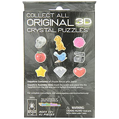 Bepuzzled Original 3D Crystal Puzzle - Sapphire - Fun yet challenging brain teaser that will test your skills and imagination, For Ages 12+: Toys & Games