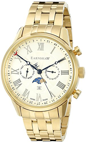 Thomas Earnshaw Men's 'Officer' Swiss Quartz Stainless Steel Dress Watch (Model: ES-0017-33)