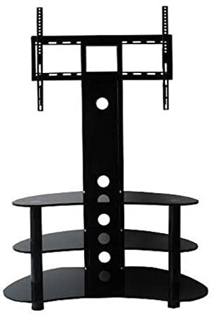 Cantilever TV Stand Tall 3 Shelf For 37 Inch To