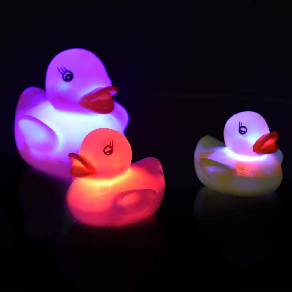trendaffe Entenfamilie Badeenten mit LED Beleuchtung im 3er