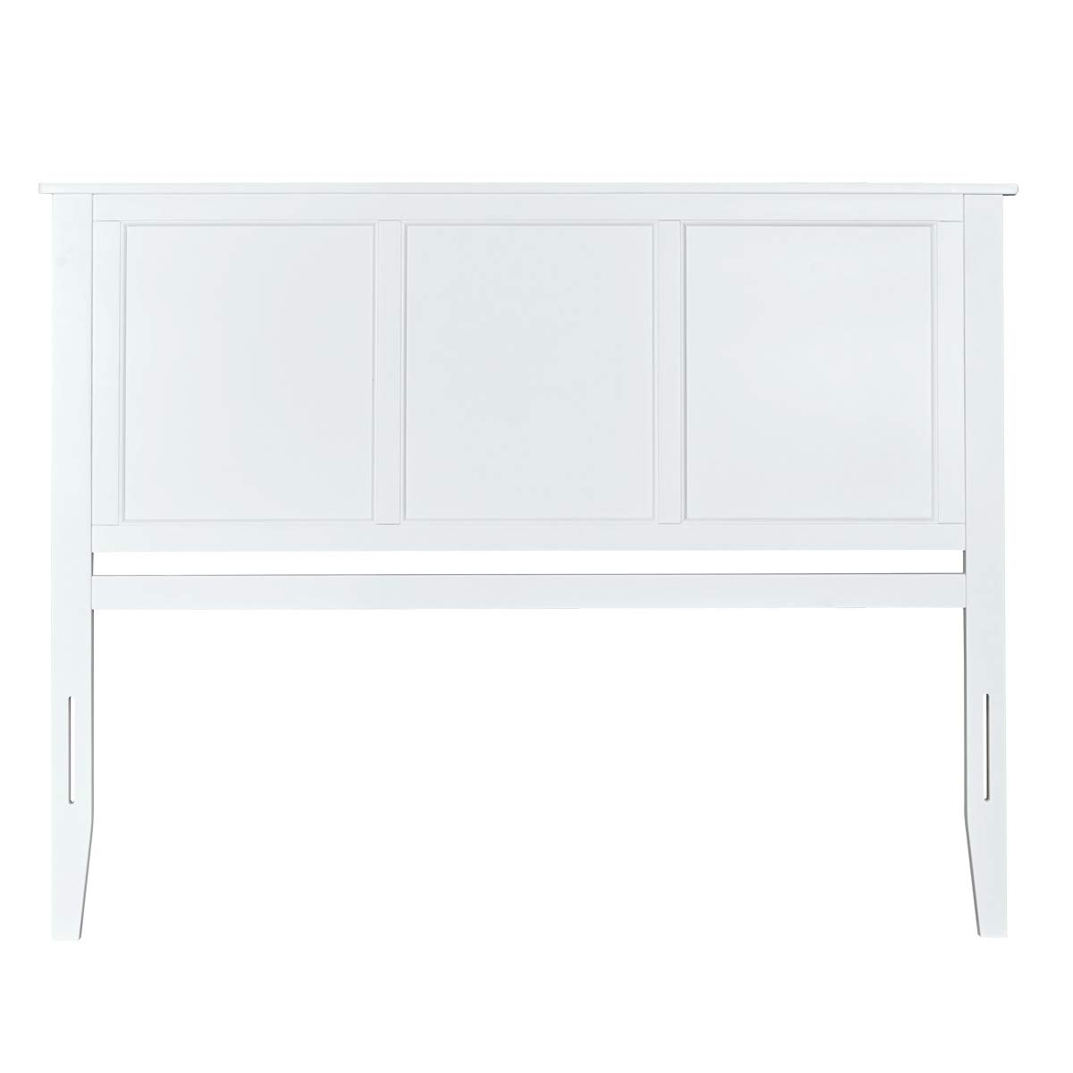 MUSEHOMEINC Georgia Solid Wood Headboard Panel with Flat Top Rail Design, White Fnish, Queen by MUSEHOMEINC