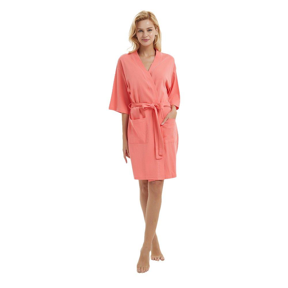 U2SKIIN Womens Cotton Robe Lightweight Short Kimono (Dubarry, L)