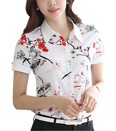 Womens Button Short Sleeve Printed product image