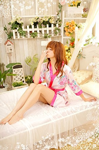 Westeng Pijama Lencería Flores Satén Suave Cordón Encaje Lisa Interior Camisón Ropa Cama Sleeping Wear Nightwear Para Damas,1Pcs Punk Folores