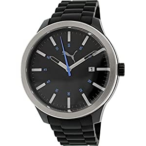 Puma Men's PU103612004 Black Silicone Analog Quartz Watch