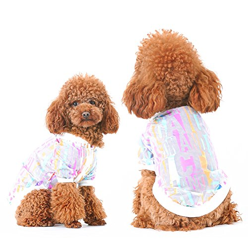 dxS8hhuo Pet Dog Puppy Cat Apparel Costume T-Shirt Clothes Jacket Outfit | Cute Dog Cat Pet Sun Protective Clothes Sports Hip Hop Style Block UV Apparel - Multicolor XL