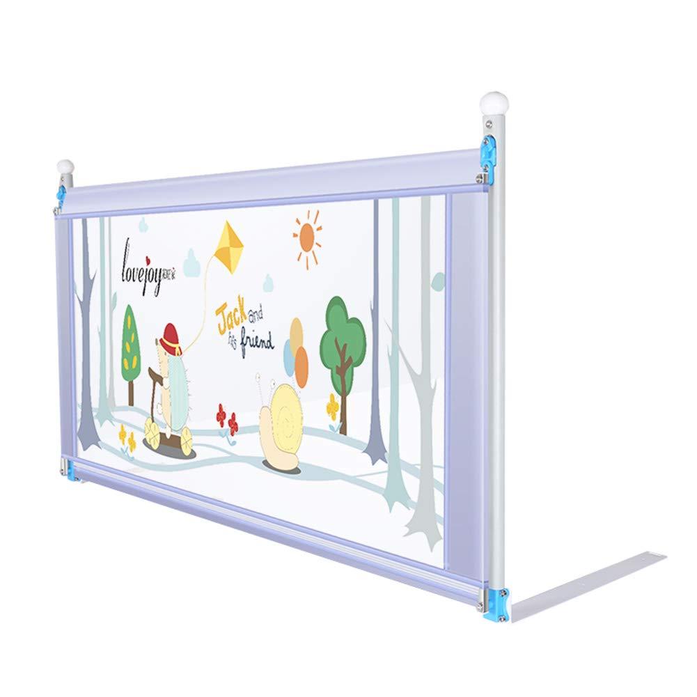 ベッドフェンス- 幼児用垂直リフトベビーベッド用ベビーベッドレールクイーン&キングサイズベッド用シングルベッドガード - グレー、74cm高 (サイズ さいず : Length 200cm) Length 200cm  B07JWJ1TSS