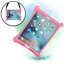 Apple iPad Air 2 case, iPad Pro 9.7 case with Stand, Shoulder Strap, Hand Strap | COOPER BOUNCE STRAP Shock Proof Silicone iPad Air case | Easy to Clean, Multi-Functional cover for Girls, Women (Pink)