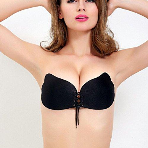 Igemy Frauen Flügel der Göttin Instant Breast Lift Unsichtbare Silikon Push Up BH Schwarz T5T0ic10