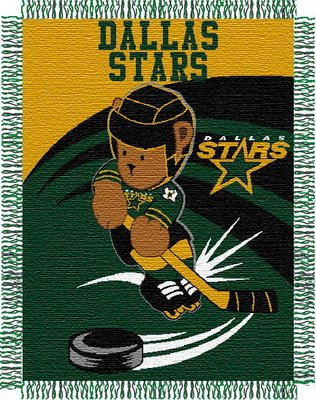 NHL Dallas Stars Woven Jacquard Baby Throw Blanket (Throw Blanket Woven Baby Jacquard)