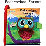zhenyu Cloth Book Quiet Book Baby Soft Books Lovely Animals' Story Cloth Books Toddler Educational Toy for Boys and Girls Touch and Feel Activity (b)